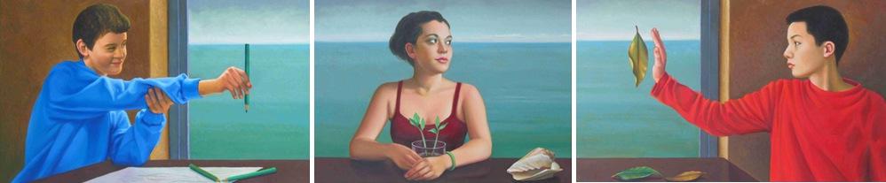 Carlo Bertocci, Veder Verde,2013 olio su tela 60x280
