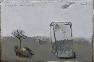 Paesaggio trasparente , 2005 - olio su tavola