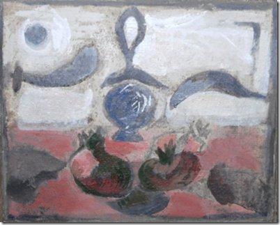 Natura morta con melagrane, 2008 – acrilico su tela 24,5 x 30,0