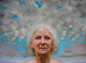 Gabor Szenteleky, Volto femminile (2007) olio su tela 50x70